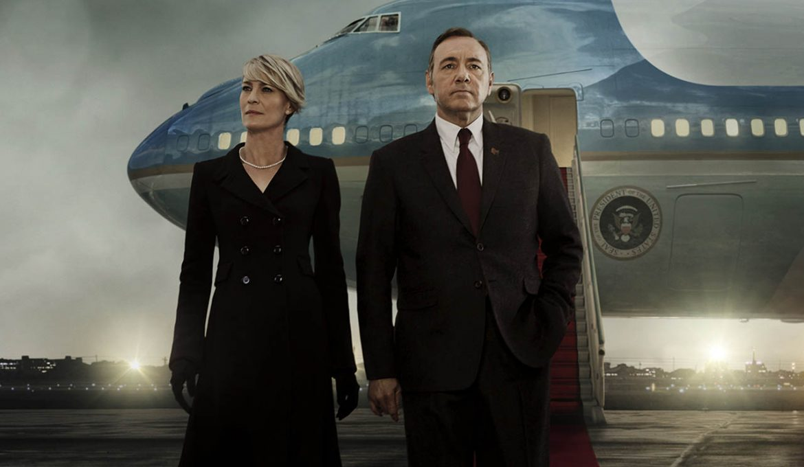 Kevin Spacey in Robin Wright v seriji Hiša iz kart (House of Cards)