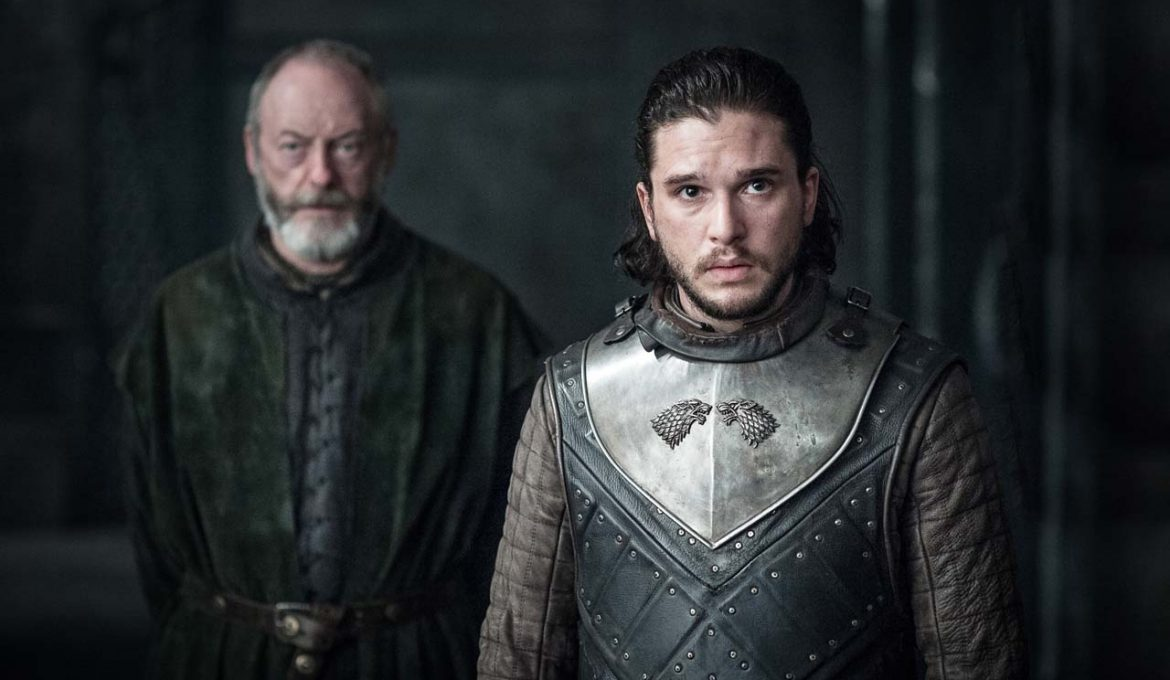 Davos in Jon Sneg iz serije Igra prestolov (Game of Thrones)