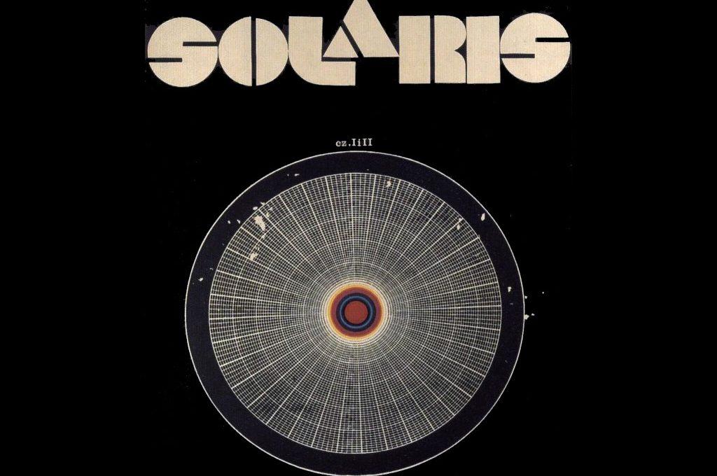 Plakat za film Solaris v režiji Andreja Tarkovskega po romanu Stanislawa Lema.