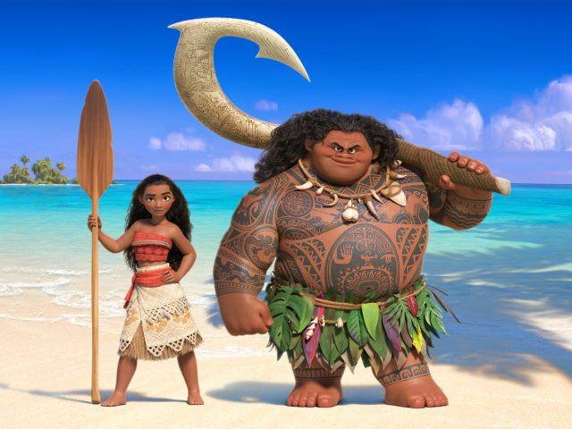 Scena iz filma Vaiana: Iskanje bajeslovnega otoka (Moana).