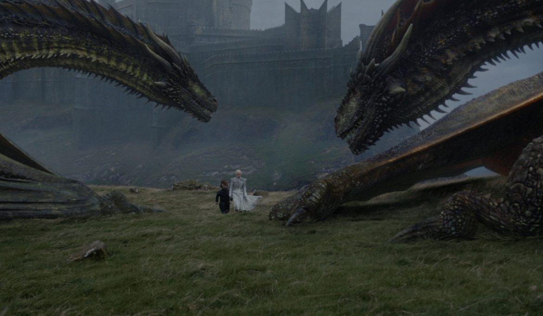 Daenerys (Emilia Clarke) v seriji Igra prestolov epizoda Onkraj zidu.