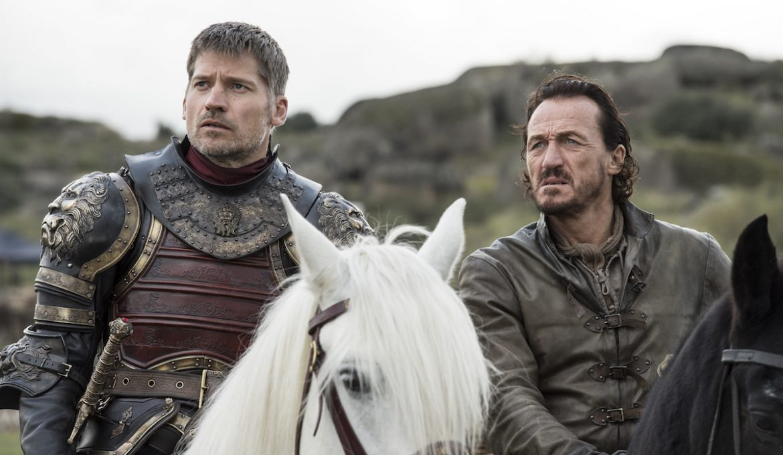 Jamie Lannister (Nikolaj Coster-Waldau) in Bronn (Jerome Flynn) v Igri prestolov.