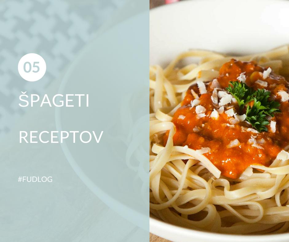 5 receptov za špagete
