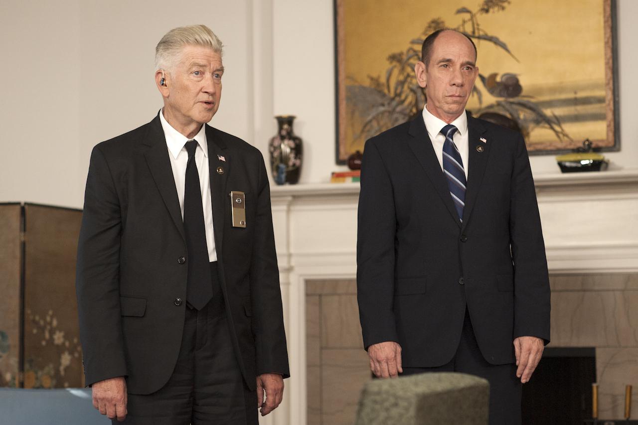 David Lynch in Miguel Ferrer v seriji Twin PEaks.