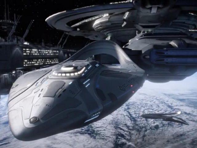 Vesoljska ladja Orville iz serije Orville (Top TV serije: Zvezdne steze: Discovery, Orville, Prostranstvo)