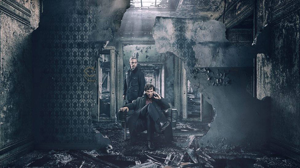 Benedict Cumberbatch in Martin Freeman v seriji Sherlock.
