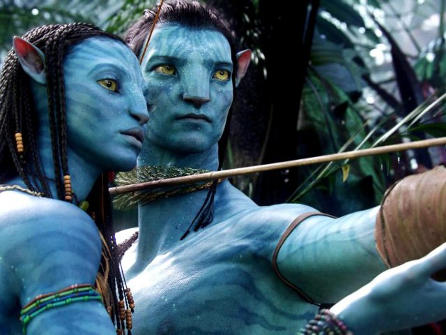 Sam Worthington in Zoe Saldana v filmu Avatar.