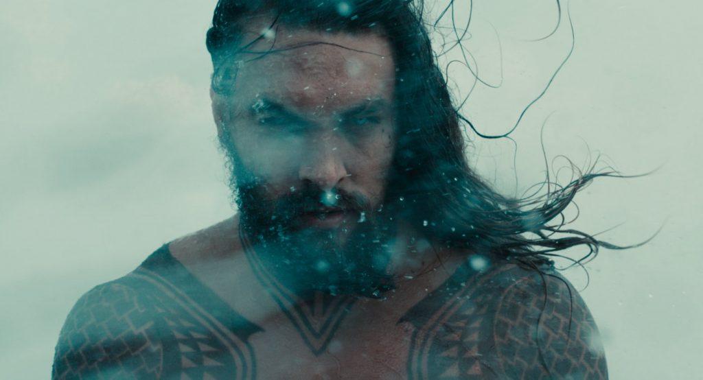 Jason Momoa kot Aquaman v Ligi pravičnih.