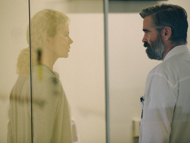 Colin Farrell in Nicole Kidman v filmu ubijanje svetega jelena (the killing of a sacred deer)