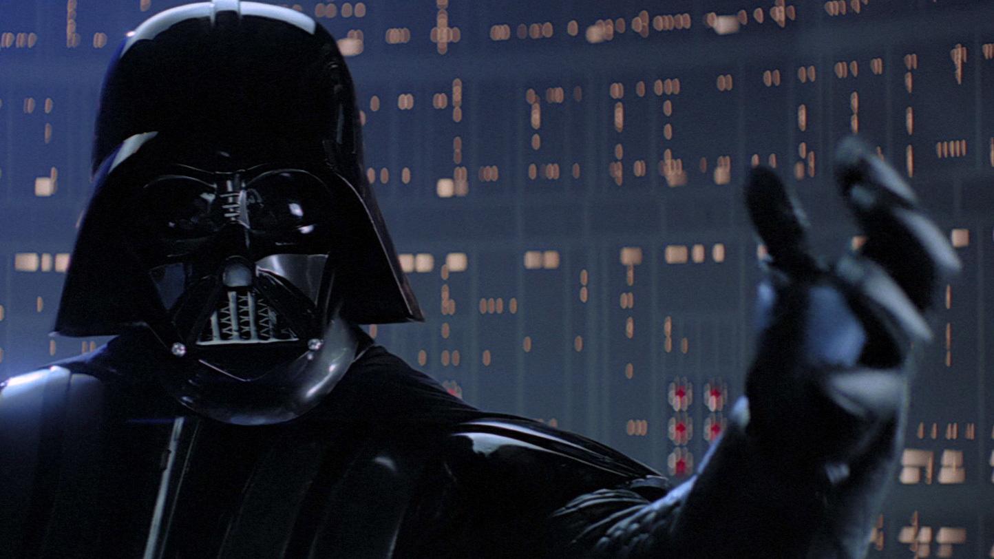 scena Luke, jaz sem tvoj oče iz filma vojna zvezd imperij vrača udarec