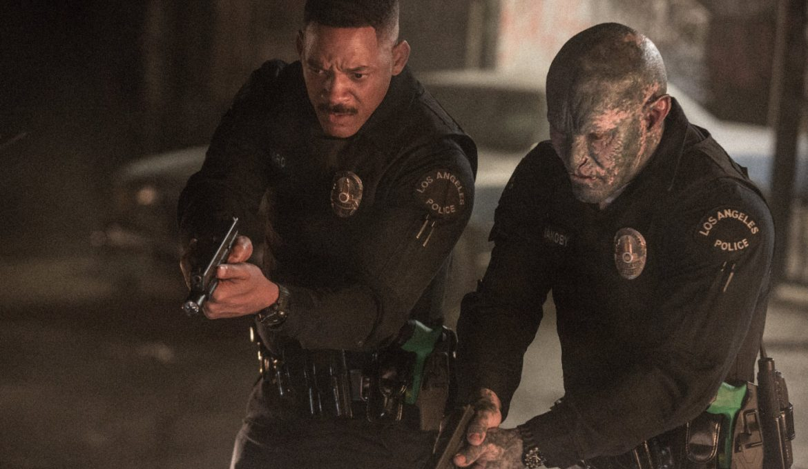 will smith joel edgerton v sceni iz filma razsvetljeni (bright)