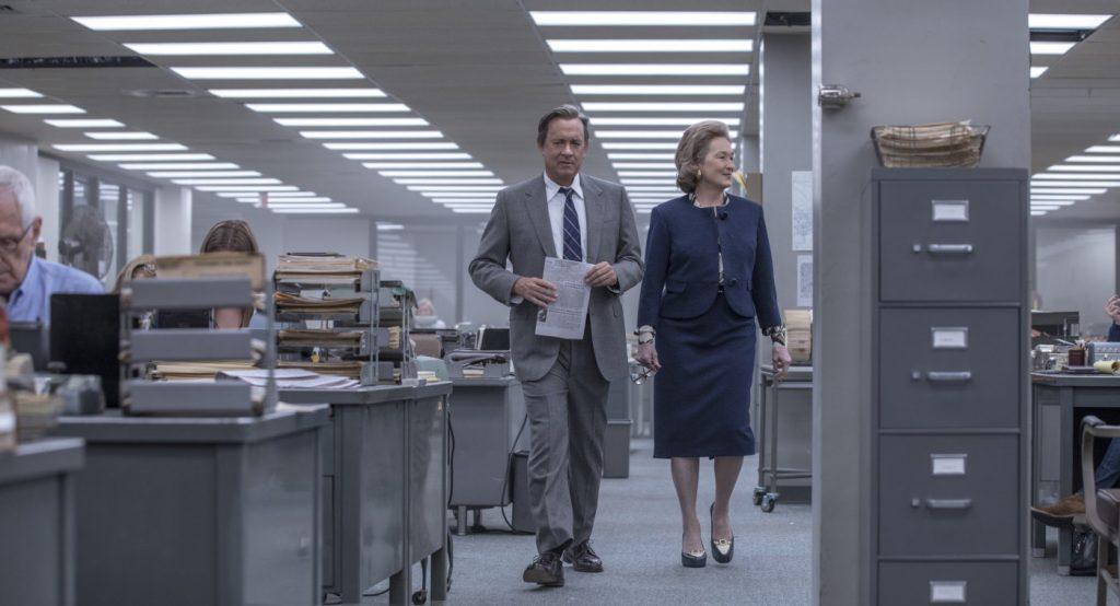 Tom Hanks in Meryl Streep v filmu Zamolčani dokumenti.