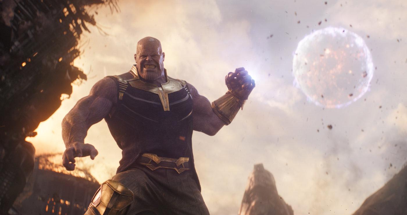 Scena iz filma Maščevalci: Brezmejna vojna: Thanos