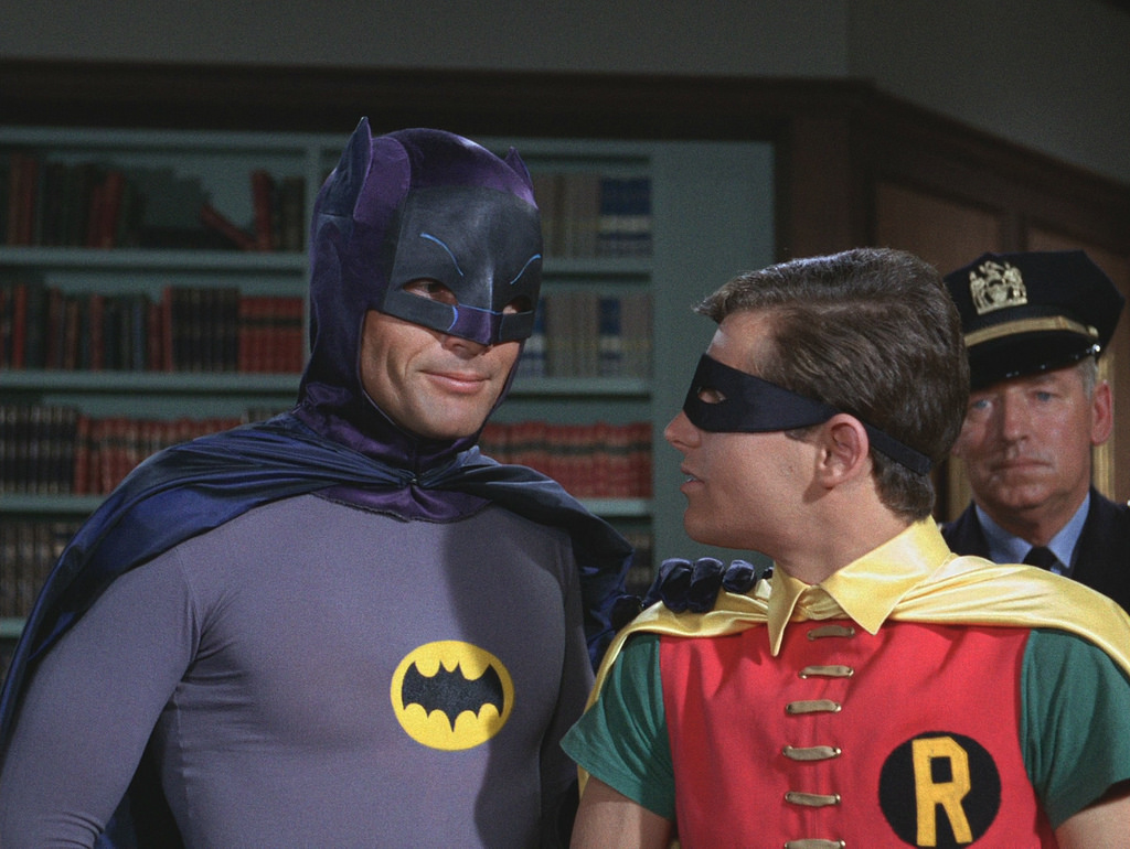 Adam West in Burt Ward kot Batman in Robin iz serije
