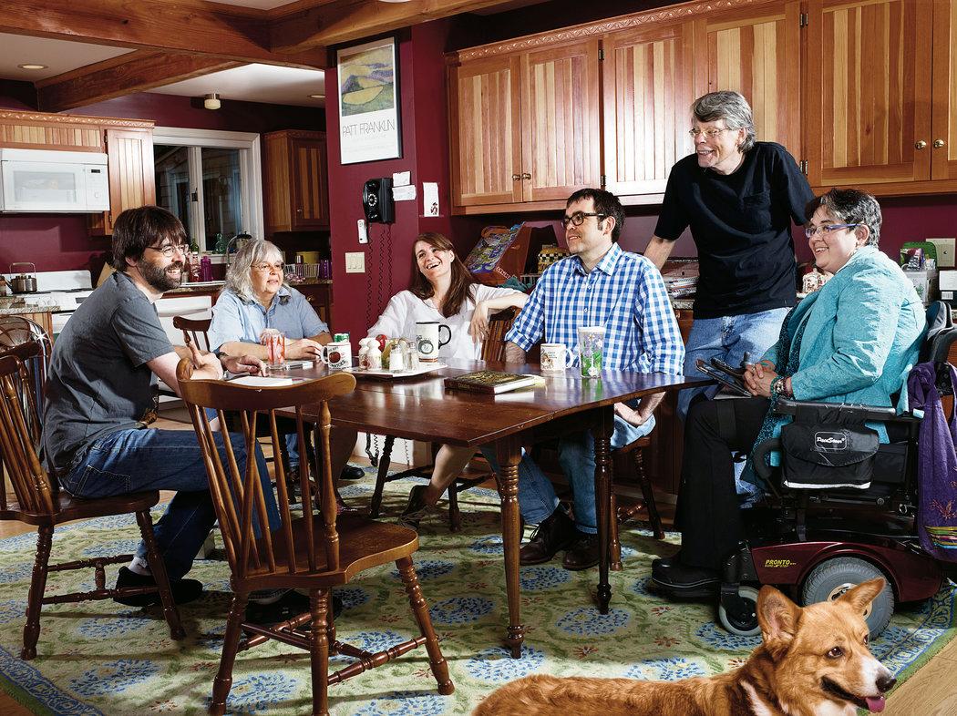 Stephen King z družino