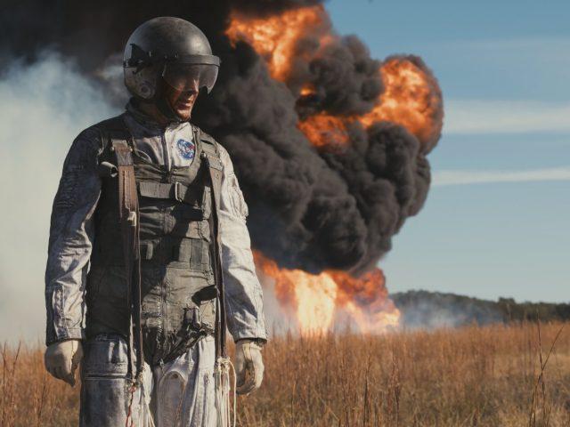 Ryan Gosling v sceni iz filma Prvi človek First Man