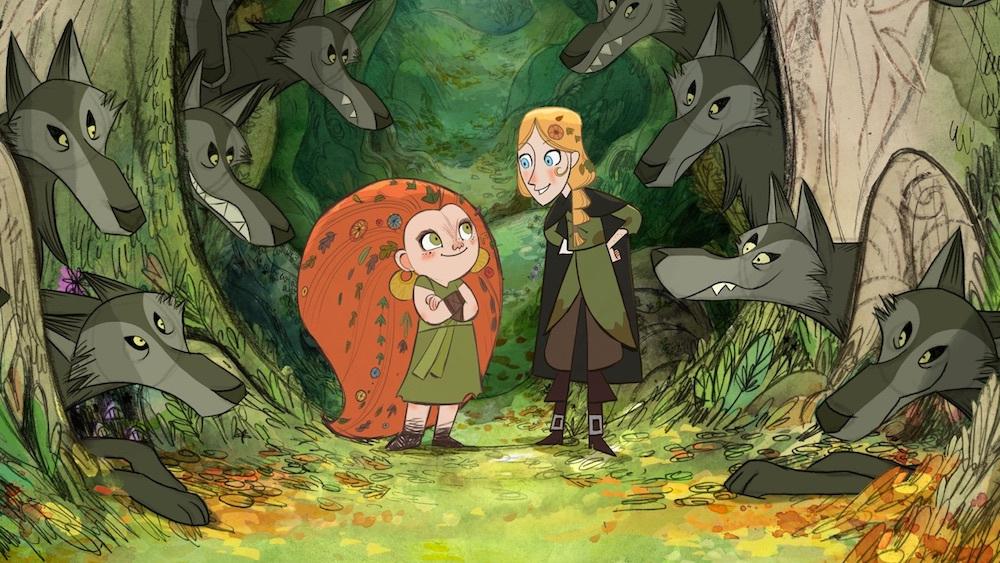 Snovolkulja Mebh in Robin iz filma Wolfwalkers.